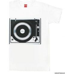 Koszulka GRAMOFON DUAL B&W tshirt. Czarne t-shirty męskie z nadrukiem marki Pakamera, m, z kapturem. Za 77,00 zł.