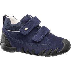 Buciki dziecięce Elefanten niebieskie. Niebieskie buciki niemowlęce chłopięce marki Born2be, z materiału, z okrągłym noskiem, na obcasie. Za 139,90 zł.