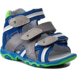 Sandały BARTEK - 11708-1PY Niebiesko/Szary. Niebieskie sandały męskie skórzane marki Bartek. W wyprzedaży za 159,00 zł.