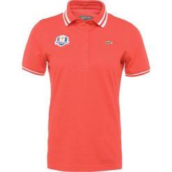 Lacoste Sport RYDER CUP Koszulka sportowa goyave/blanc. Czerwone bluzki sportowe damskie Lacoste Sport, z bawełny, polo. Za 369,00 zł.