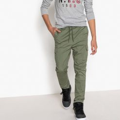 Spodnie jogpant 10-16 lat. Brązowe spodnie chłopięce La Redoute Collections, z bawełny. Za 79,76 zł.