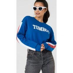 Bluzy damskie: Colourful Rebel Bluza oversize Tomboy - Blue