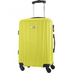 Walizka w kolorze żółtym - 56 l. Żółte walizki Platinium, z materiału. W wyprzedaży za 219,95 zł.