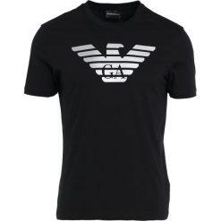 Emporio Armani LOGO Tshirt z nadrukiem nero. Szare koszulki polo marki Emporio Armani, l, z bawełny, z kapturem. Za 509,00 zł.