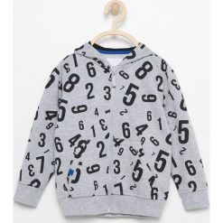 Bluza z kapturem - Jasny szar. Szare bluzy chłopięce rozpinane marki Reserved, l, z kapturem. Za 69,99 zł.