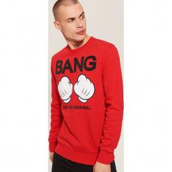 Bluza Mickey Mouse - Czerwony. Czerwone bejsbolówki męskie House, l, z motywem z bajki. Za 99,99 zł.
