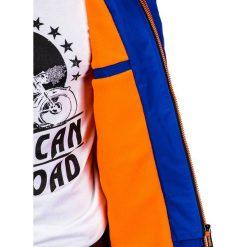 KURTKA MĘSKA PRZEJŚCIOWA SPORTOWA C320 - NIEBIESKA. Niebieskie kurtki sportowe męskie marki Ombre Clothing, m, z nylonu. Za 99,00 zł.