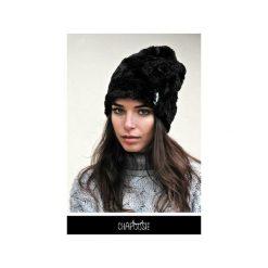 Czapka CHAPOOSIE BlackFury Beanie. Czarne czapki zimowe damskie Chapoosie, z bawełny. Za 116,10 zł.