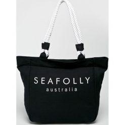 Seafolly - Torba plażowa Canvas Rope Tote. Brązowe torby plażowe Seafolly, z bawełny. Za 189,90 zł.