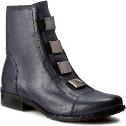 Botki EKSBUT - 64-3520-950-1G Granat. Niebieskie buty zimowe damskie Eksbut, ze skóry, na obcasie. W wyprzedaży za 259,00 zł.