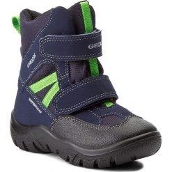 Buty zimowe chłopięce: Śniegowce GEOX – J Clady B. B Wpf A J745MA 050FU C0749 Navy/Lime