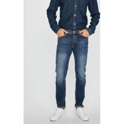 Jack & Jones - Jeansy Tim. Niebieskie rurki męskie marki Jack & Jones, z bawełny. W wyprzedaży za 129,90 zł.