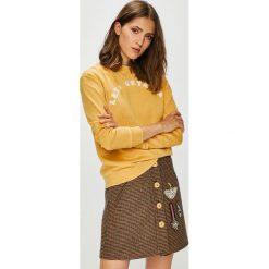Roxy - Bluza. Brązowe bluzy damskie Roxy, l, z aplikacjami, z bawełny. Za 249,90 zł.