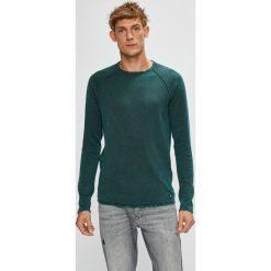 Tom Tailor Denim - Sweter. Szare swetry klasyczne męskie TOM TAILOR DENIM, l, z bawełny, z okrągłym kołnierzem. Za 169,90 zł.