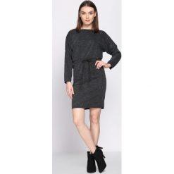 Czarna Sukienka Bitterness. Czarne sukienki dzianinowe marki Born2be, na jesień, uniwersalny. Za 49,99 zł.