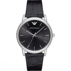 Zegarek EMPORIO ARMANI - Luigi AR2500 Black/Silver. Czarne zegarki męskie Emporio Armani. Za 850,00 zł.
