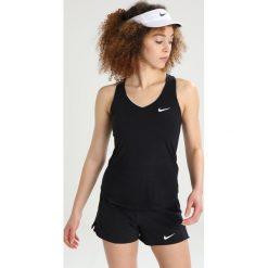 Nike Performance TEAM PURE Koszulka sportowa noir/blanc. Czarne topy sportowe damskie Nike Performance, s, z elastanu. Za 139,00 zł.