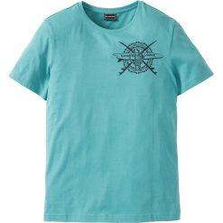 T-shirty męskie z nadrukiem: T-shirt Slim Fit bonprix zielony