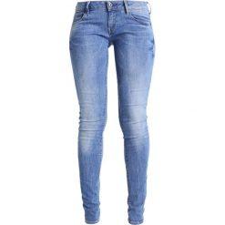 GStar 3301 LOW SKINNY  Jeans Skinny Fit binsk superstretch. Niebieskie jeansy damskie marki G-Star, z bawełny. W wyprzedaży za 399,20 zł.