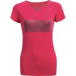 T-shirt damski TSD606 - różowy - Outhorn. Czerwone t-shirty damskie Outhorn, z bawełny. W wyprzedaży za 29,99 zł.