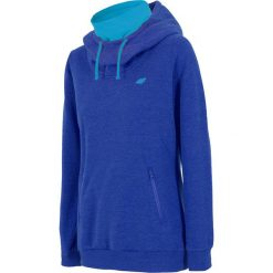 Damska bluza sportowa 4F ze stójką - niebieska. Niebieskie bluzy rozpinane damskie Astratex, z tkaniny. Za 135,09 zł.