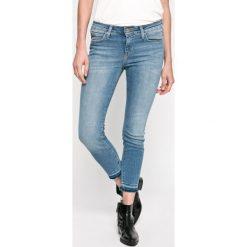 Lee - Jeansy Scarlett. Niebieskie jeansy damskie rurki Lee, z bawełny. W wyprzedaży za 279,90 zł.