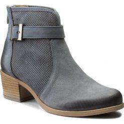 Botki LASOCKI - GUSTA-02 Jeansowy. Niebieskie buty zimowe damskie marki Lasocki, z jeansu, na obcasie. Za 249,99 zł.