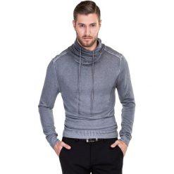 Sweter MIRONE SWPS000150. Czarne swetry klasyczne męskie marki Giacomo Conti, m, z bawełny, z klasycznym kołnierzykiem. Za 259,00 zł.