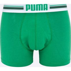Puma - Bokserki Puma Placed logo boxer 2p green (2-pack). Zielone bokserki męskie marki Puma, z bawełny. W wyprzedaży za 49,90 zł.