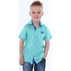 Koszula chłopięca z guzikami miętowa NDZ7480. Zielone koszule chłopięce Fasardi. Za 49,00 zł.