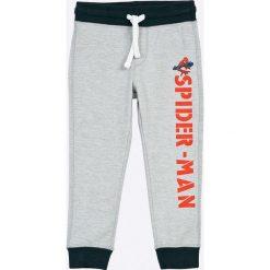 Blukids - Spodnie dziecięce 98-128 cm. Szare spodnie chłopięce Blukids, z nadrukiem, z bawełny. W wyprzedaży za 39,90 zł.