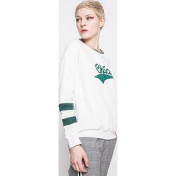 Answear - Bluza Sporty Fusion. Szare bluzy z nadrukiem damskie ANSWEAR, l, z bawełny, bez kaptura. W wyprzedaży za 49,90 zł.