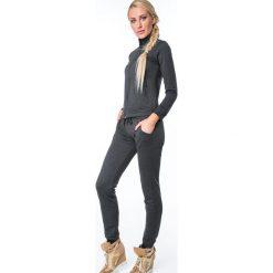 Spodnie dresowe z prążkowanego materiału czarne MR15672. Czarne spodnie dresowe damskie Fasardi, m, z dresówki. Za 79,00 zł.