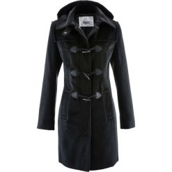 Płaszcz z kapturem bonprix czarny. Czarne płaszcze damskie bonprix. Za 199,99 zł.