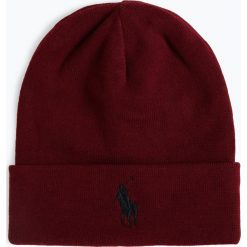 Polo Ralph Lauren - Czapka męska, czerwony. Czerwone czapki męskie Polo Ralph Lauren, z haftami, z bawełny, klasyczne. Za 179,95 zł.