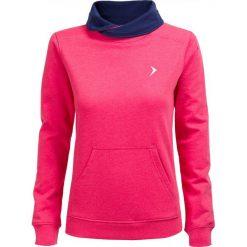 Bluza damska BLD600 - RÓŻ MELANŻ - Outhorn. Szare bluzy z kieszeniami damskie marki Outhorn, melanż, z bawełny. W wyprzedaży za 48,99 zł.