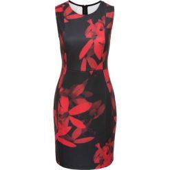Sukienki hiszpanki: Sukienka w kwiaty bonprix czarno-czerwony w kwiaty