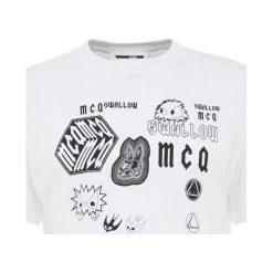 McQ Alexander McQueen DROPPED SHOULDER TEE Tshirt z nadrukiem optic white. Białe t-shirty męskie z nadrukiem McQ Alexander McQueen, l, z bawełny. Za 529,00 zł.