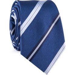 Krawat KWNR001928. Niebieskie krawaty męskie marki Giacomo Conti, w paski, z mikrofibry. Za 69,00 zł.