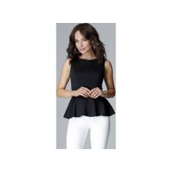 Bluzka L013 Czarny. Czarne bluzki asymetryczne Lenitif, l, eleganckie. Za 99,00 zł.