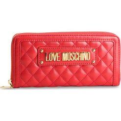 Duży Portfel Damski LOVE MOSCHINO - JC5612PP17LA0500  Rosso. Czerwone portfele damskie Love Moschino, ze skóry ekologicznej. Za 429,00 zł.