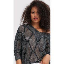 Swetry klasyczne damskie: Srebrny Sweter Stay With Me