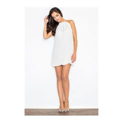 Sukienka Fifi M065 Ecru. Białe sukienki dzianinowe marki NIFE, eleganckie. Za 99,00 zł.