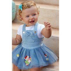 Mayoral - Spódnica dziecięca 74-98 cm. Różowe minispódniczki marki Mayoral, z bawełny, z okrągłym kołnierzem. Za 154,90 zł.