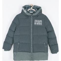 Kurtka. Szare kurtki chłopięce przeciwdeszczowe TIME IS NOW, z aplikacjami, z bawełny. Za 209,90 zł.