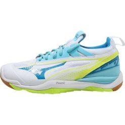 Buty sportowe damskie: Mizuno WAVE MIRAGE  Obuwie do piłki ręcznej white/diva blue/safety yellow