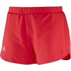 Salomon Spodenki Do Biegania Damskie Agile Short W Red L. Czerwone spodenki sportowe męskie marki numoco, l. W wyprzedaży za 109,00 zł.