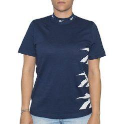 Koszulka Reebok SMU W Vector High Neck (AZ6944). Niebieskie t-shirty damskie Reebok, z bawełny, z krótkim rękawem. Za 59,99 zł.