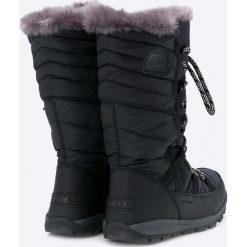 Sorel - Botki Whitney Lace. Czarne buty zimowe damskie Sorel, z materiału, z okrągłym noskiem. W wyprzedaży za 329,90 zł.