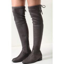 Ciemnoszare Kozaki Sorry Not Sorry. Szare buty zimowe damskie vices, na płaskiej podeszwie. Za 149,99 zł.
